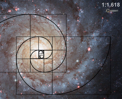 Image result for golden spiral in milky way